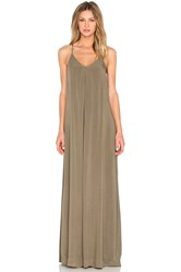 Michael Stars Maxi Slip Dress Olive