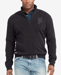 Polo Ralph Lauren Men's Big And Tall Half Zip Sweater Light Charcoal