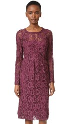 Sonia Rykiel Lace Midi Dress Cherry