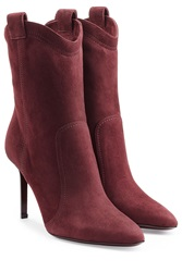 Tamara Mellon Suede Ankle Boots Red