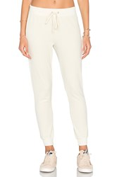 Pam And Gela Velour Betsee Sweat Pant Beige