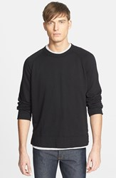 Men's James Perse Raglan Crewneck Sweatshirt Black