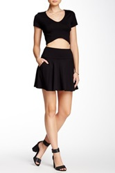Soprano Knit Skater Skirt Black