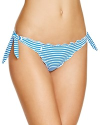 Polo Ralph Lauren Beachside Striped Tie Side Hipster Bikini Bottom Blue