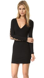 Iro Stacie Lace Up Sleeve Dress Black Black
