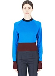 Marni Knitted Crew Neck Sweater Blue