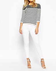 Oasis White Cropped Jade Jeans