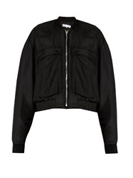 Katharine Hamnett At Ymc Padded Silk Bomber Jacket Black