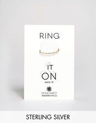 Dogeared Gold Plated Small Sparkle Ball Chain Ring Gold
