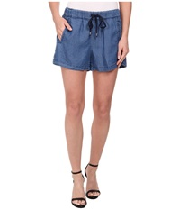 Splendid Rayon Voile Shorts Medium Wash Women's Shorts Navy