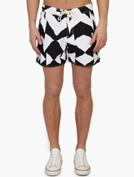 Saturdays Surf Nyc Mirror Patterned Curtis' Board Shorts