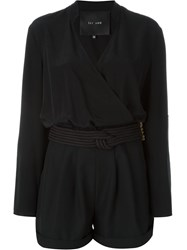 Jay Ahr Rope Detail Playsuit Black