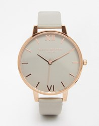 Olivia Burton Big Dial Grey And Gold White Face Watch Gray