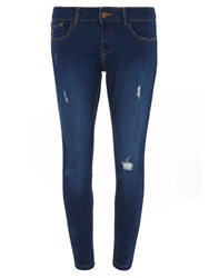 Dorothy Perkins Petite Casey Relaxed Skinny Jean Blue