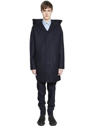 Lanvin Hooded Double Wool Felt Parka
