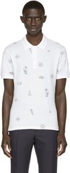 Alexander Mcqueen White Tattoo Polo