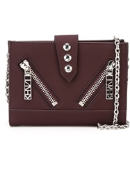Kenzo 'Kalifornia' Chain Wallet Pink And Purple