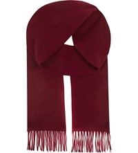 Aspinal Of London Cashmere Scarf Burgundy