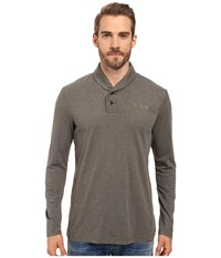 G Star Gilik Long Sleeve Tee In Jisoe Jersey Gs Grey Men's T Shirt Brown
