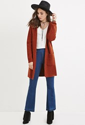 Forever 21 Wool Blend Hooded Cardigan