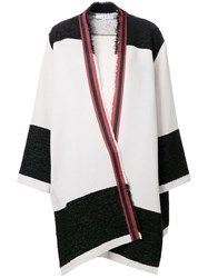 Iro Draped Cape Coat White