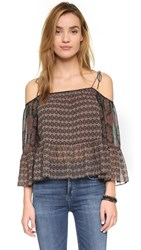 Twelfth St. By Cynthia Vincent Print Off Shoulder Blouse Foulard