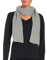 Lord And Taylor Cashmere Knit Scarf Grey