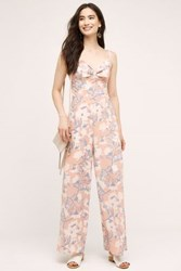 Anthropologie Bowed Peach Jumpsuit