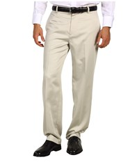 Dockers Never Iron Essential Khaki D3 Classic Fit Flat Front Pant Stone Men's Casual Pants White