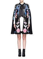 Temperley London 'Sail' Anchor Bird Embroidered Wool Cape Multi Colour