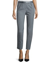 Halston Slim Fit Cropped Pants Heather Gray Heather Grey