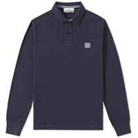Stone Island Long Sleeve Regular Fit Polo Blue