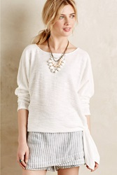 Sunday In Brooklyn Side Tie Pullover White