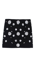 Tibi Shell Beading Mini Skirt