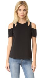 Cooper And Ella Padma Cold Shoulder Top Black