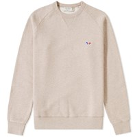 Maison Kitsune Tricolour Fox Crew Sweat Neutrals