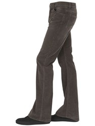 Roberto Cavalli Stretch Cotton Corduroy Flared Pants