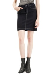 Topshop Archive Collection 'Debbie' Denim Pencil Skirt Navy Blue