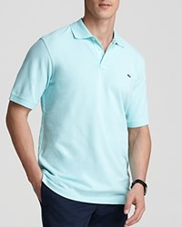 Vineyard Vines Solid Pique Polo Classic Fit Blue Mist