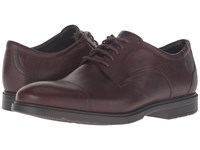 Rockport City Smart Cap Toe Dark Brown Leather Men's Shoes