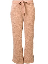 Undercover Cashmere Cropped Pants Pink Purple