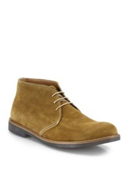 Saks Fifth Avenue Suede Chukka Boots Brown