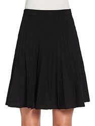 Saks Fifth Avenue Black Knit Circle Skirt Black