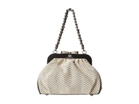 My Flat In London Paige Frame Bag W Chain Strap Cream Black Shoulder Handbags Bone