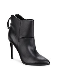 French Connection Monay Pointed Leather Booties Black
