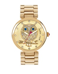 Betsey Johnson Ladies Owl Motif Goldtone Bracelet Watch