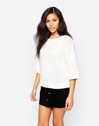 B.Young Textured Sweater Off White