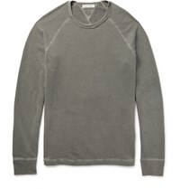 Alex Mill Loopback Cotton Jersey Sweatshirt Army Green