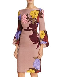 Tracy Reese Flounce Sleeve Dress Carnation Sweet Emotion