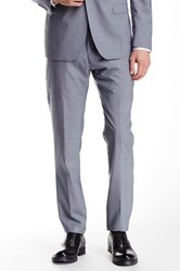 Ben Sherman Herringbone Checkered Suit Separates Wool Pant Blue